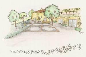progettazione area alberata