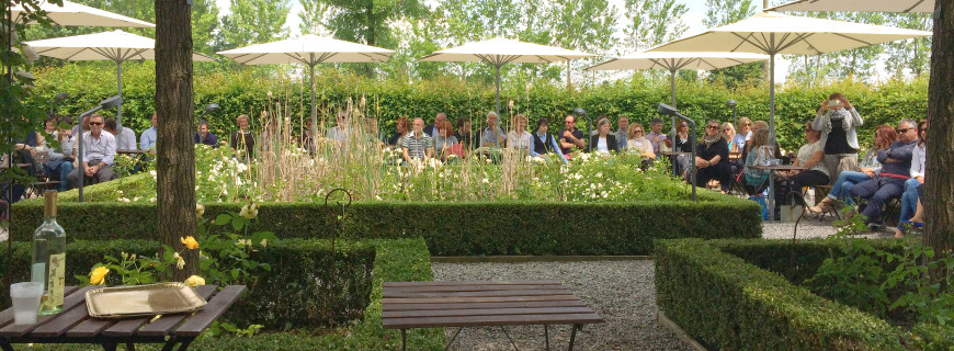 Un giardino per eventi all'aperto