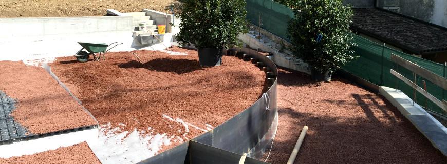 Le fasi di realizzazione del giardino pensile