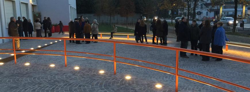 Teatro degli Alcuni: l'inaugurazione del giardino d'ingresso