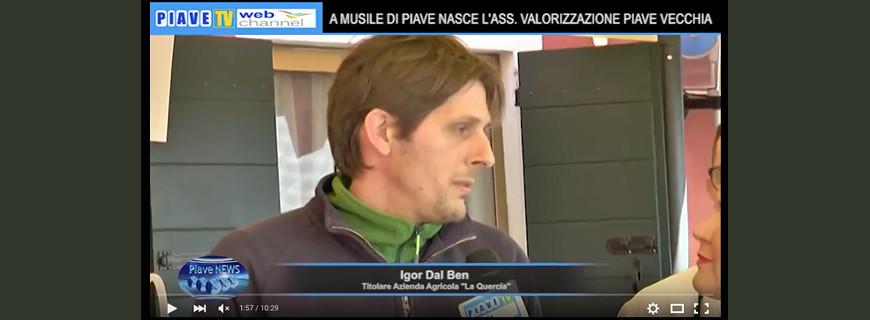 """Intervista ad Igor Dal Ben in occasione dell'inaugurazione dell'Associazione """"Piave Vecchia"""""""