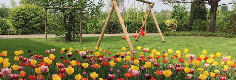Giardino privato fiorito
